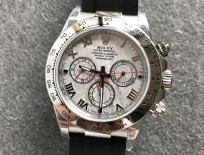 劳力士顶级精仿手表白金迪通拿系列陨石面男士机械腕表