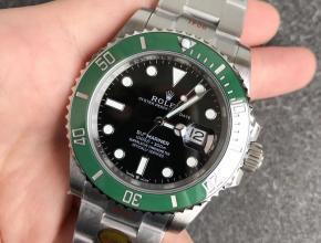 NOOB厂劳力士顶级复刻手表V11潜航者m126610lv-0002(新款绿水鬼)