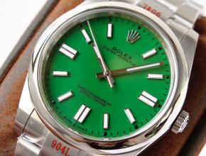 GS厂劳力士顶级复刻手表蚝式恒动神奇宝贝41mm绿盘