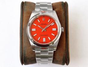GS劳力士顶级复刻手表蚝式恒动神奇宝贝41mm大红表盘