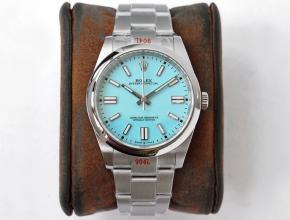 GS厂劳力士顶级复刻手表蚝式恒动神奇宝贝41mm浅蓝盘