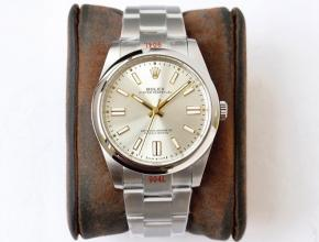 GS劳力士顶级复刻手表蚝式恒动神奇宝贝41mm银盘金针