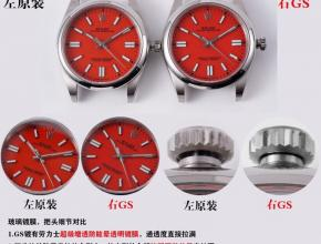 GS劳力士复刻手表蚝式恒动神奇宝贝41mm真假对比评测