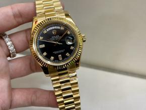 顶级复刻手表劳力士日志款男款真金真钻钢带腕表