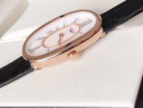 顶级复刻手表浪琴女款白盘黑带圆舞曲系列休闲腕表