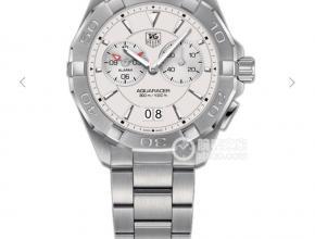 顶级复刻手表泰格豪雅男款白盘钢带竞潜系列石英腕表