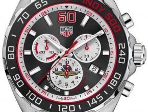 顶级复刻手表泰格豪雅男款黑盘钢带F1系列纪念特别版石英腕表