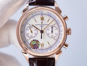 顶级复刻手表江诗丹顿男款白盘1955系列皮带腕表