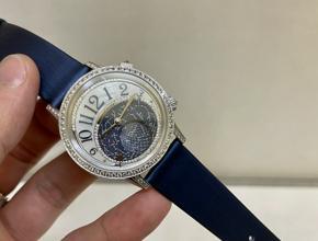 顶级复刻手表积家约会系列 新款真金真钻皮带腕表