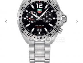 顶级复刻手表泰格豪雅男款黑盘钢带F1方程式系列腕表