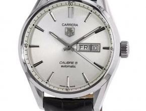 顶级复刻手表泰格豪雅男款白盘卡莱拉系列双日历款腕表