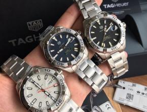 顶级复刻手表泰格豪雅男款白盘钢带竞潜系列机械腕表