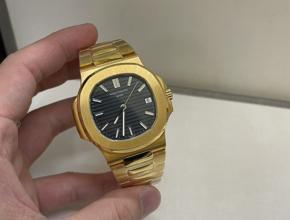 顶级复刻手表最美款 最薄款 百达翡丽鹦鹉螺男款真金真钻腕表