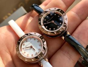 顶级复刻手表宝格丽女款白盘白带B.zero 1系列石英皮带腕表