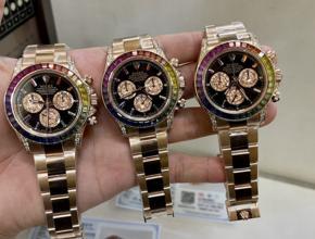 顶级复刻手表劳力士彩红迪男款真金真钻钢带腕表
