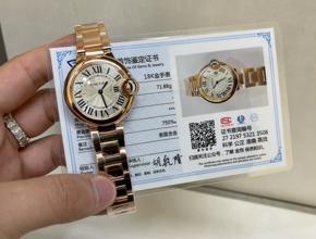 顶级复刻手表卡地亚蓝气球女款真金真钻钢带腕表