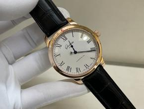顶级复刻手表格拉斯蒂男款真金真钻皮带腕表