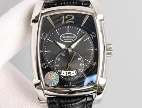 顶级复刻手表帕玛强尼男款黑盘KALPA系列全自动机械皮带腕表