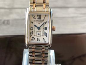 顶级复刻手表浪琴女款白盘间金带黛绰维纳系列 腕表