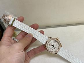 顶级复刻手表百达翡丽手雷女款真金真钻腕表