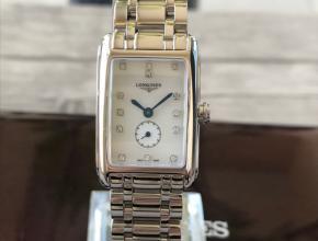顶级复刻手表浪琴女款白盘钢带黛绰维纳系列石英腕表