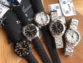 顶级复刻手表泰格豪雅男款黑盘钢带F1系列 机械表