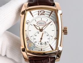 顶级复刻手表帕玛强尼男款金盘KALPA系列全自动机械皮带腕表