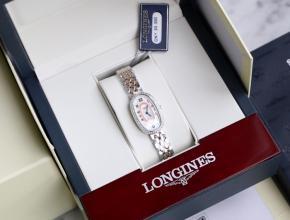 顶级复刻手表浪琴女款白盘间金带圆舞曲系列石英腕表