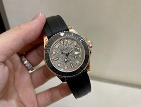 顶级复刻手表劳力士游艇名仕型男款真金真钻腕表
