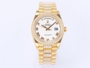 EW顶级复刻手表劳力士男款白盘2021新品机械星期日志型手表