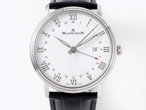 顶级复刻手表宝珀男款白盘黑带经典系列腕表