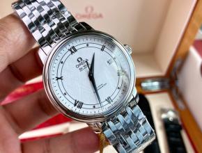 顶级原单手表欧米茄蝶飞系列男款钢带机械手表