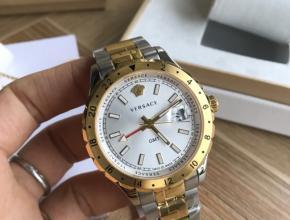 范思哲最新款V11石英男款时尚土豪金情侣手表