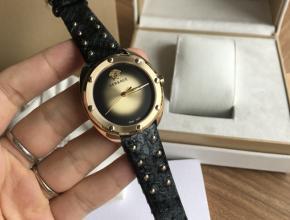 顶级原单手表范思哲女款黑盘黑带VEBM系列石英皮带手表