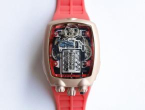 布加迪威龙一比一手表男款白盘橡胶带机械手表