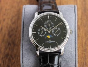 TW江诗丹顿复刻表男款白盘黑带机械皮带传承系列万年历多功能手表
