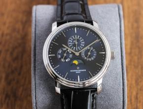 TW江诗丹顿精仿表男款蓝盘蓝带传承系列机械皮带万年历多功能手表