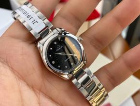 顶级原单手表欧米茄女款石英海马系列真金真钻手表