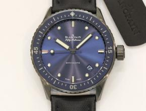 顶级复刻手表宝珀男款蓝盘尼龙带五十寻系列系列腕表