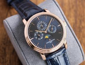 TW江诗丹顿一比一手表男款蓝盘蓝带万年历多功能传承系列机械皮带手表