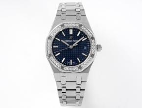 8F爱彼顶级复刻表女款蓝盘钢带自动机械34毫米皇家橡树系列新品手表