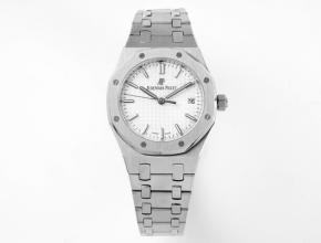 8F爱彼 复刻手表女款白盘钢带自动机械手表34毫米皇家橡树系列手表
