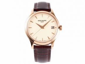 ZF顶级复刻手表百达翡丽男款金盘棕带古典系列自动机械皮带手表