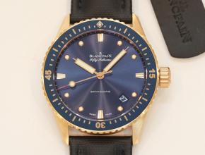 顶级复刻手表宝珀男款蓝盘尼龙带五十寻系列