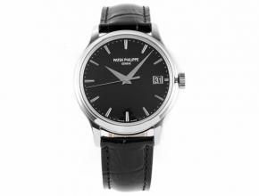 ZF顶级复刻手表百达翡丽男款黑盘黑带古典系列V3版机械皮带手表