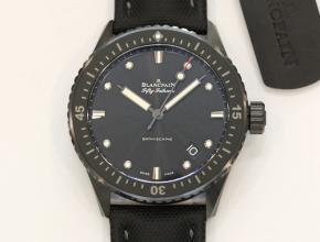顶级复刻手表宝珀男款蓝盘尼龙带五十噚自动机械腕表