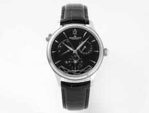 ZF积家超a手表男款黑盘黑带机械地理学家Q1428421系列皮带手表