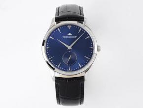 ZF积家高仿表女款蓝盘蓝带石英大师系列超薄款小秒针皮带手表
