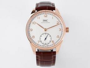 ZF万国复刻手表男款白盘棕带新葡萄牙系列自动机械皮带手表