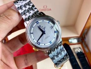 顶级原单手表欧米茄男款灰盘钢带蝶飞系列机械手表